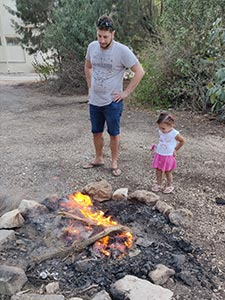 almog and his daughter