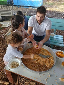 almog and his daughters